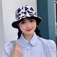 Mũ bucket bò sữa hoạt tiết rằn ri độc đáo, đội được 2 mặt Trơn đen & Bò Sữa - Hạnh Dương thumbnail