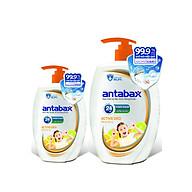 Combo Nước Rửa Tay Kháng Khuẩn ANTABAX 250ml & 500ml - Loại bỏ 99.9% vi khuẩn (TẶNG kèm 12 gói sữa tắm bỏ túi tiện lợi) thumbnail