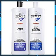 Bộ dầu gội xả Nioxin 6 Chemically Treated Hair Progressed Thinning Cho tóc uốn duỗi tẩy có dấu hiệu thưa rụng Mỹ 1000ml thumbnail