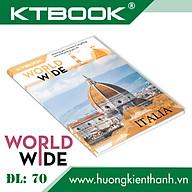 Gói 5 cuốn Tập Học Sinh Cao Cấp Giá rẻ Worldwide Giấy Trắng ĐL 70 gsm - 200 trang thumbnail