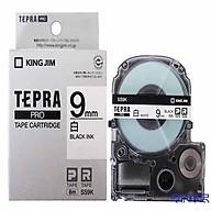 Băng mực in nhãn Tepra cỡ 9mm dùng cho máy TEPRA PRO KING JIM SR-R170V SR530 SR970 SR5900P - HÀNG CHÍNH HÃNG thumbnail