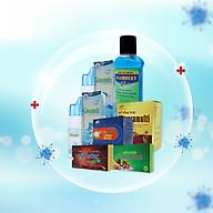 Combo1 Ở nhà an toàn sức khỏe vững vàng - Xịt mũi Greensix, nước xúc miệng diệt khuẩn Antidecay, viên bổ tổng hợp Maxpromulti, Viên cảm cúm Betafive, Vitamin C & Rutin Pytastar, Viên ngậm ho sát khuẩn họng Coughtstar thumbnail
