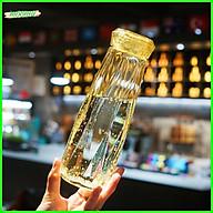 Bình Nước Thủy Tinh Kim Cương 500ml - Vàng thumbnail