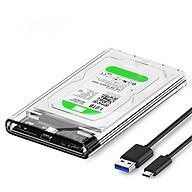 Hộp đựng ổ cứng HDD SSD 2.5 QGeeM Gen2 cổng USB C 3.1, Type C to SATA SATA I II III, PS4 hỗ trợ UASP tốc độ cao 6Gbps kèm cáp Type C to USB A-Hàng Chính Hãng thumbnail