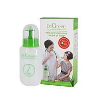 Bình rửa mũi Dr.Green 1 bình kèm 10 gói muối biển nha đam Rửa mũi cho bé và người lớn hỗ trợ điều trị viêm mũi, sổ mũi, viêm mũi dị ứng, viêm xoang thumbnail