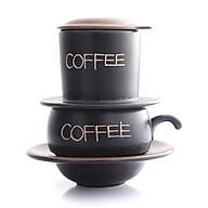 Phin Cafe Gốm Màu Nâu Thấp MNV-CF001 3 thumbnail