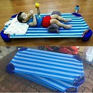 Giường lưới cho bé học bán trú loại 2 thanh inox chắc chắn thumbnail