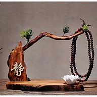 Kệ Gỗ Trang Trí Cây Tùng Kèm Tượng Phật Và Chú Tiểu An Nhiên - Kệ hoa sen và chuỗi thumbnail