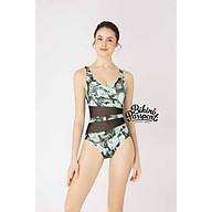 BIKINI PASSPORT - Đồ bơi áo tắm Một mảnh cổ V phối lưới - Xanh lá cây BS357_GN thumbnail