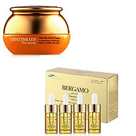 Combo kem dưỡng trắng da và chống nhăn Q10 & Set tinh chất hỗ trợ trị mụn- tái tạo da Bergamo Luxury Gold Collagen And Caviar 13ml chai x 4 chai thumbnail