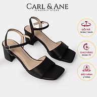 Gia y sandal cao go t Erosska thơ i trang quai ngang phô i dây tinh tê cao 5cm CS010 thumbnail