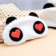 Tấm bịt mắt ngủ hình gấu panda dễ thương, chất liệu bông mềm mại thumbnail