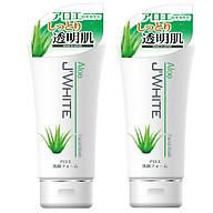 Combo 2 Tuýp Sữa Rửa Mặt Trắng Sáng Da, Chống Lão Hóa Tinh Chất Lô Hội Nhật Bản J WHITE 160G thumbnail