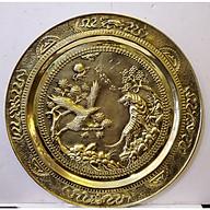 Tranh mâm đồng vàng nguyên chất Song Hùng Tương Ngộ -A223 thumbnail