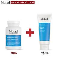 Viên uống giảm mụn Murad Pure Skin Dietary Supplement 120 viên Tặng Sữa rửa mặt Clarifying Cleanser 200ml (Cận date) thumbnail