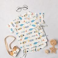 Bộ đồ ngủ cộc tay họa tiết hoạt hình dễ thương cho bé BR21001 thumbnail