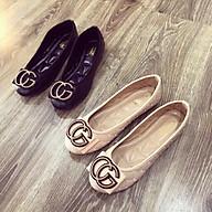 Giày Bệt Giày Búp Bê Nữ Mũi Tròn Trần Chỉ Dày Dặn Cực Êm Chân thumbnail