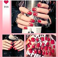 Bộ 24 móng tay giả như hình D16 (kèm keo) thumbnail