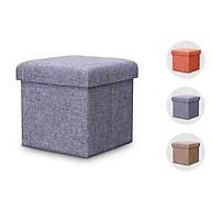 Ghế ngồi sofa kiêm hộp đựng đồ size 30 30 30cm. Ghế ngồi đa năng. Giao màu ngẫu nhiên thumbnail