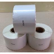 5 cuộn tem in trà sữa 50x30mm (30m) - Tem decal nhiệt thumbnail