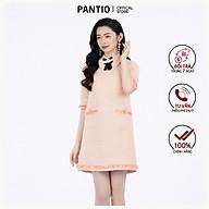 Đầm công sở chất liệu dạ dáng ôm dài tay gắn nơ FDC92865 - PANTIO thumbnail