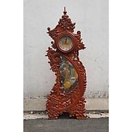 Đồng hồ cây gỗ hương 1m09 hoa văn chân mẫu DH 01 thumbnail