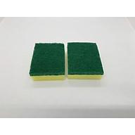 [COMBO 2 Miếng] Miếng cọ rửa chén bát xanh vàng tiện dụng thumbnail