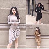 Váy đầm body nữ váy đầm ôm dài tay xỏ ngón siêu phẩm body thumbnail