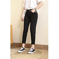 Quần jeans baggy nữ màu đen trơn đẹp VNXK - Đen - 28 thumbnail