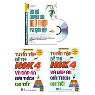Combo 3 sa ch Bộ đề tuyê n tâ p đê thi năng lực Hán Ngữ HSK 4 va đa p a n gia i thi ch chi tiê t +Gia i ma chuyên sâu ngư pha p HSK giao tiê p tập 1+DVD thumbnail