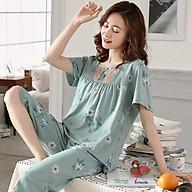 Đồ bộ nữ-Bộ mặc nhà quần lửng chất COTTON 100%, tông màu Pastel ngọt ngào Full size M-2XL thumbnail