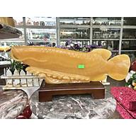 Tượng Cá Rồng phong thủy tài lộc đá Ngọc hoàng long - Dài 45 cm thumbnail