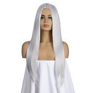 KW-005 High-temperature Synthetic Fiber Wigs Heat Resistant Long Hairpiece Hair Wig for Women Straight Hair Full Wigs thumbnail
