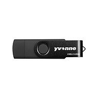 yvonne YT602-2 USB2.0 U Disk Rotating 128GB OTG USB Flash Drive with Double Ports U Disk for Mobile Phone PC Laptop thumbnail