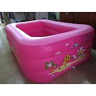 Bể bơi 3 tầng 1m6x1m2x55cm cho 2-4 bé vui chơi-màu hồng logo ngẫu nhiên tặng kèm bộ dán thumbnail