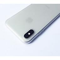 Ốp lưng viền dẻo trong sần nhám trắng dành cho iPhone XS MAX thumbnail