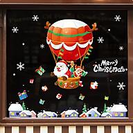 Decal dán tường trang trí Noen- Ông già Noen ngồi khinh khí cầu- mã NQR209098 thumbnail
