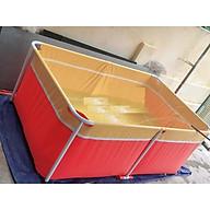 Bể bơi mini 1m x1.6m x 0.6m cho bé bể bơi khung kim loại, bể bơi lắp ghép thumbnail