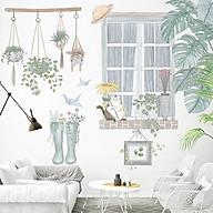 Decal trang trí chất liệu PVC loại 1 dày dặn, sắc nét, trang trí phòng khách, quán cafe-Khung cửa sổ-LV45 thumbnail