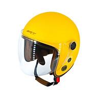 Mũ Bảo Hiểm 3 4 Đầu SRT Kính Liền Phủ Lót Nâu Cao Cấp - Mũ Bảo Hiểm Chuyên Phượt thumbnail