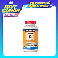 Tăng Sức Đề Kháng Vitamin C Kirkland Signature Chewable 500mg Của Mỹ - Ngậm Nhai Giúp Tăng Cường Hệ Miễn Dịch, Sản Xuất Collagen, Nhanh Lành Vết Thương, Chống Oxy Hóa, Ngăn Ngừa Ung Thư, Hỗ Trợ Hấp Thụ Sắt thumbnail