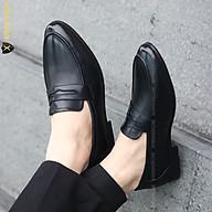 Giày tây nam , Giày lười nam không bóng, Đế cao 3cm, Da mềm, Màu đen, Mã x076, Hàng Việt Nam thumbnail