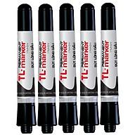 Combo 5 cây bút lông dầu Thiên Long PM09 đen thumbnail