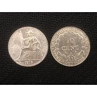 Đồng xu lưu niệm 10 cent hoa xòe Đông Dương 1913 thumbnail