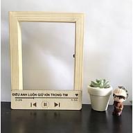 Khung ảnh gỗ treo tường độc đáo ĐIỀU ANH LUÔN GIỮ KÍN TRONG TIM . Tặng kèm bộ kít treo khung thumbnail