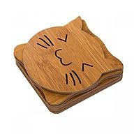 Combo 6 đế lót nồi bằng gỗ chịu nhiệt hình thú (giao mẫu ngẫu nhiên) thumbnail