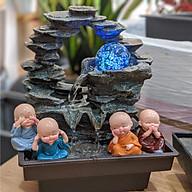 Combo thác nước mini để bàn Phong Thuỷ Luân + 4 chú tiểu An Yên thumbnail