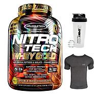 Combo Sữa tăng cơ Nitro Tech 100% Whey Gold của Muscle tech hương socola hộp 76 lần dùng & Bình lắc 600 ml (Màu Ngẫu Nhiên) & Áo Gym size M thumbnail