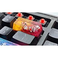 Keycap artisan cá koi 2U trang trí bàn phím cơ gaming (tone vàng đỏ) thumbnail