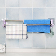 Thanh đôi dán tường treo khăn nhà tắm có móc - màu tím thumbnail